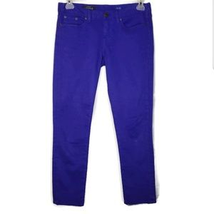 J Crew blue toothpick ankle Jeans size 28